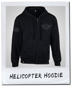 HELICOPTER HOODIE | GREY PRINT