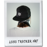LOGO TRUCKER HAT BLACK