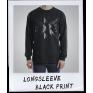LOGO LONGSLEEVE BLACK PRINT